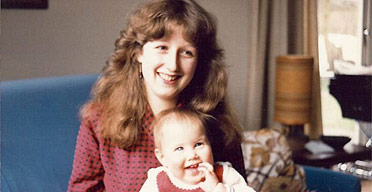 Jo Mears with baby Anna
