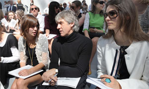 Larry Elliot at the Chanel haute couture show