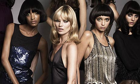 kate moss young pictures. Kate Moss and models wearing
