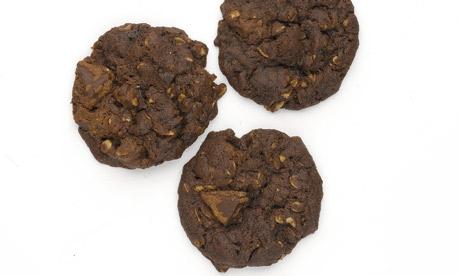 Chocolate parkin biscuits