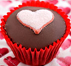 Cupcake with a love heart
