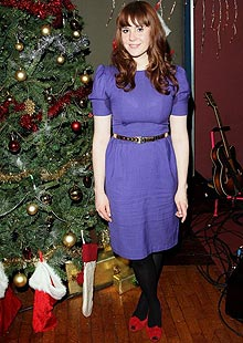 Kate Nash at a Christmas party