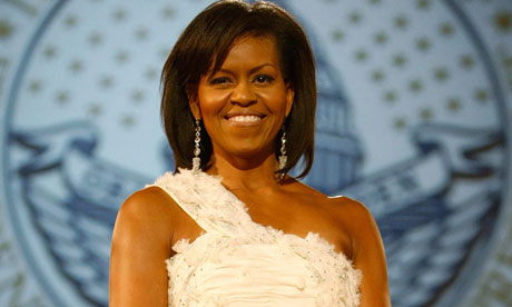 Michelle Obama at the inauguration ball