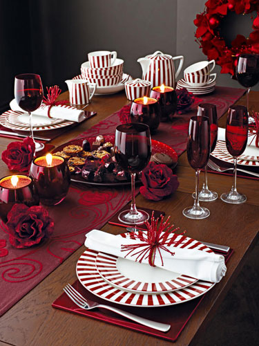 Christmas table decorations: Red | Life and style | The Guardian