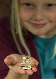 A miniature cakestand