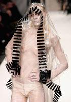 A model wears Gareth Pugh