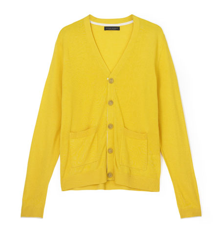 Yellow Cardigan Australia - Cashmere Sweater England
