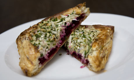 Allegra McEvedy's G2 weekly recipe: Tarte fine of beetroot and goat's...