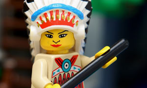 Lego Native American on a horse