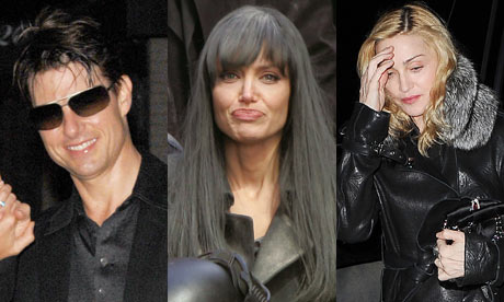 Tom Cruise, Angelina Jolie and Madonna