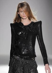 A model wears Balmain