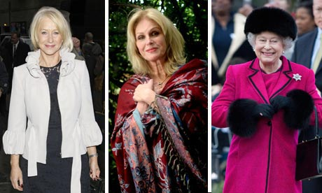 Helen Mirren, Joanna Lumley and HRH the Queen