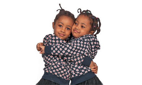 African American Identical Twins Identical twins, fifi and coco