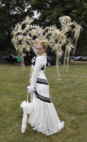 ladies day ascot: A hat made by Louis Mariette at Royal Ascot