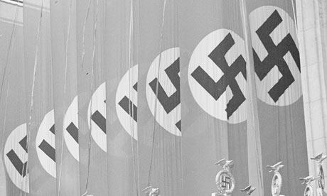 Nazi swastikas on flags