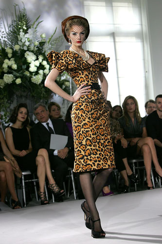 Dior Leopard Print Dress  :  fashion week leopard print haute couture leopard