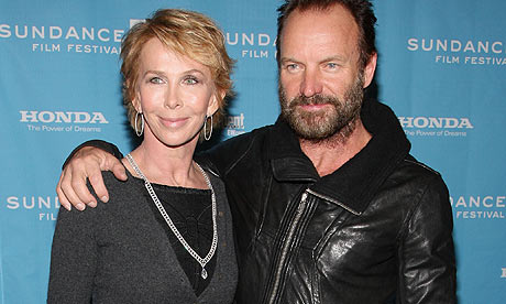 Trudie Styler and Sting