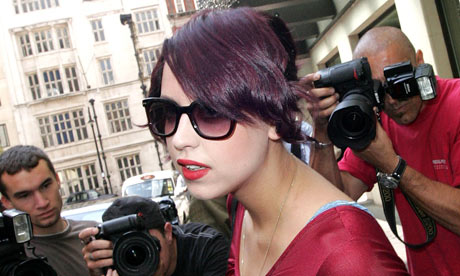 plum hair colour. with her new plum hair.