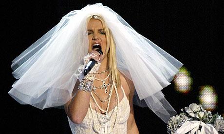 Britney Spears in a wedding dress
