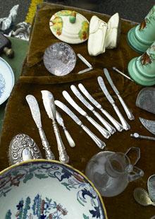 Cutlery on display