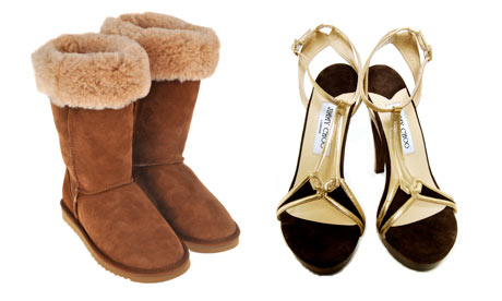 Ugg Boots and Jimmy Choos