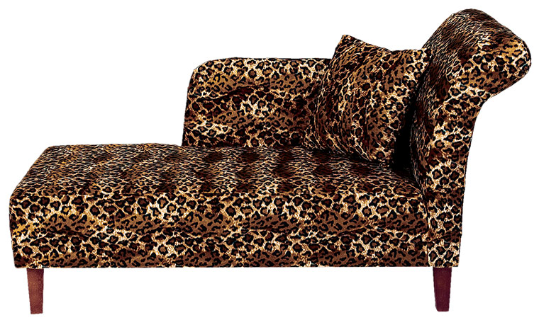 Henredon furniture chair leopard for Animal print chaise lounge furniture