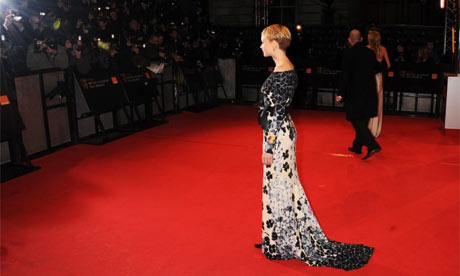 Carey Mulligan on the Baftas red carpet