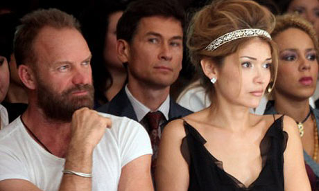 Sting with Gulnara Karimova.  I know which one Id rather get Tantric with.