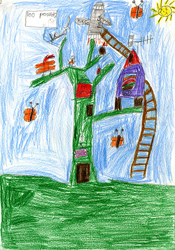Children S Drawing Competition Design A Fantasy Tree