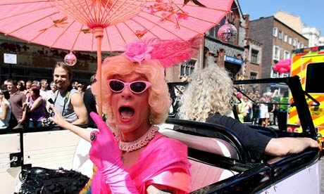 The Gay Pride parade in Brighton, 2007, where Juliet joined a protest ...