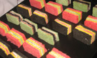 Multicoloured sandwiches at Prada's show