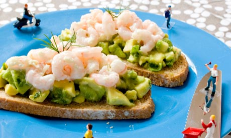 Prawn and avocado sarnie
