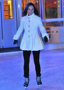 Pippa Middleton skating at Somerset House