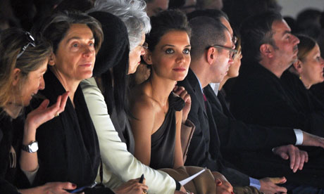 Milan fashion week Katie Holmes on the front row at Maxmara