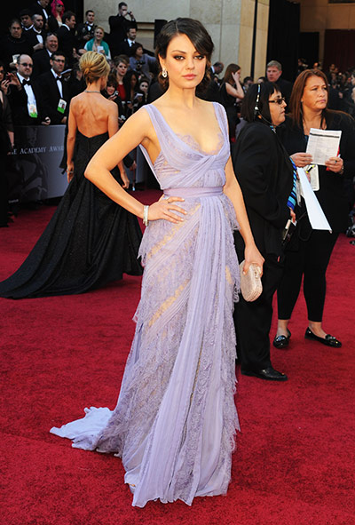 Oscars: Mila Kunis arrives at the Oscars