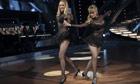Lesbian TV presenter Gili Shem Tov (left) with her Dancing with the Stars partner, Dorit Milman