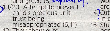 Crossword blog 18/08/2011