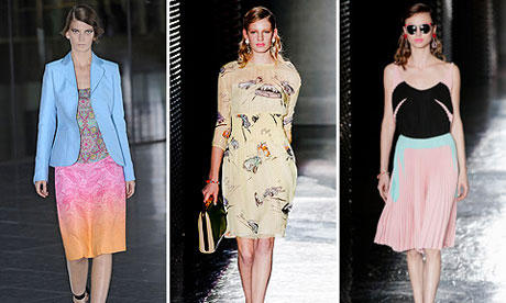 Pastels by Jonathan Saunders and Prada