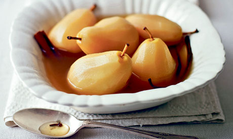 Pears poached in sauternes, cardamom and ginger recipe | Lorraine ...
