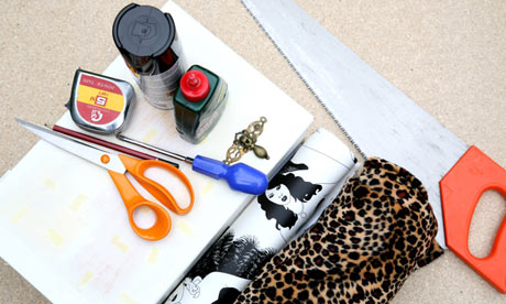 What you need to make a decoupage jewellery box