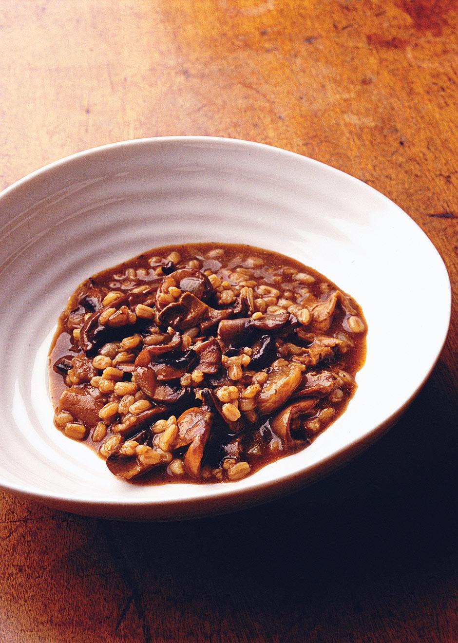 little brown stew of mushrooms and spelt   Nigel Slater's recipe ...