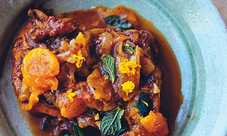Braised neck of lamb with apricots and cinnamon. Photograph: Jonathan ...