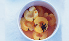 Poached apples with ginger and anise