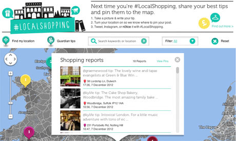 Shop local map on N0tice