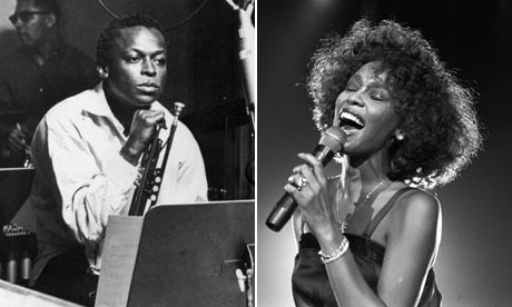 Whitney Houston and Miles Davis.