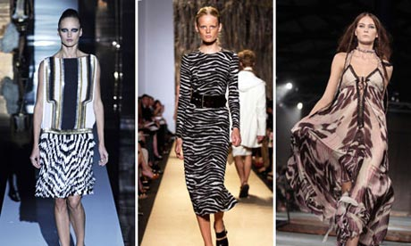 S/S 2012 designs by Gucci, Michael Kors and Roberto Cavalli