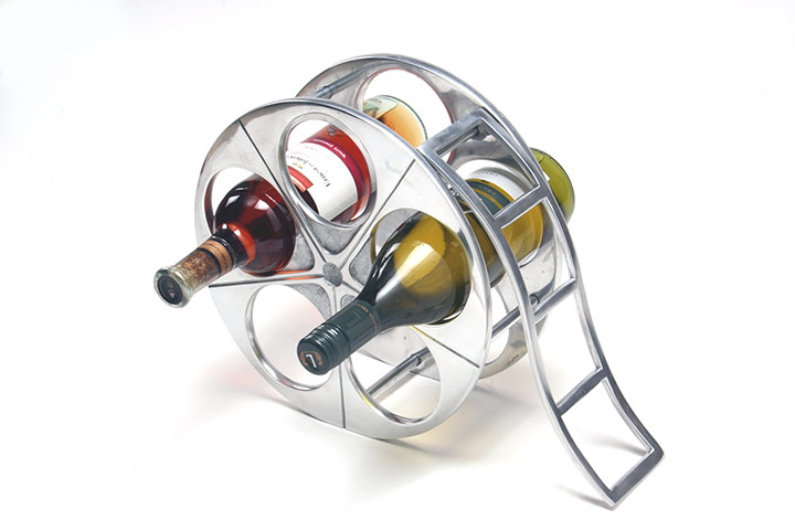 India meets china homeware with an asian twist in for Movie reel wine rack