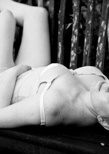 Emily Carlisle in her underwear
