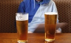 Lager in a pub