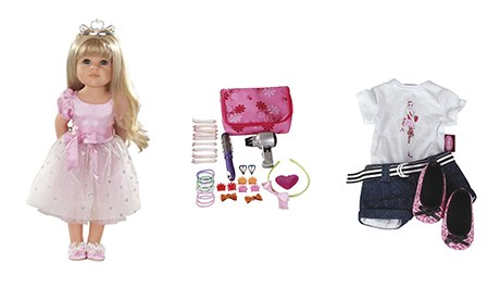Hannah the Princess doll and some of her accessories